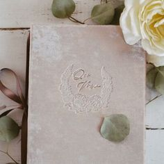 Floral wreath Our Vows on our champange velvet vow book, get yours at the link in our bio. Wedding Dreams, Dream Wedding, Vow Book, Vows, Floral Wreath, Stationery, Velvet, Wreaths, How To Plan