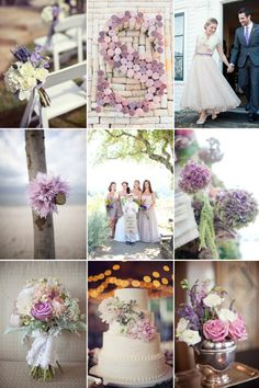 romantic wedding color inspiration soft plum lilac lavendar