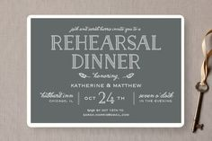 Modern Delineation Rehearsal Dinner Invitations by Kaydi Bishop at minted.com