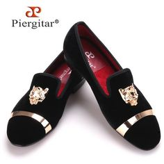 d9b7aa5d00b New fashion men handmade velvet loafers with PP tiger and gold buckle Velvet  Loafers Mens
