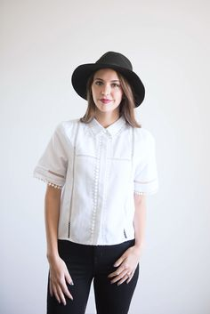 The Bossy Button Up in White