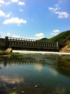 Bluestone Dam. This photo was taken from Bellepoint Park