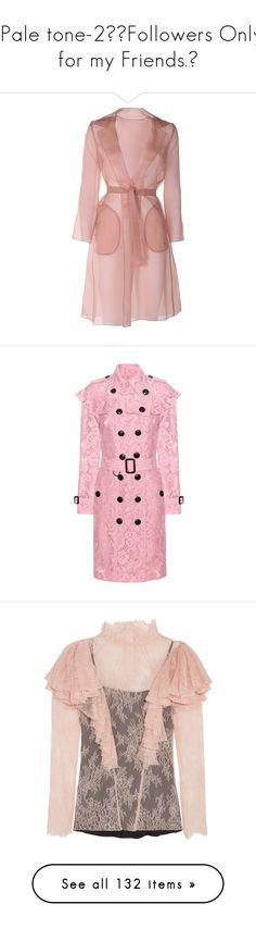 """✦ Pale tone-2/🔻Followers Only… for my Friends.🔻"" by tomoko22 ❤ liked on Polyvore featuring outerwear, coats, jackets, dresses, coats & jackets, marrone, maxmara coat, maxmara, collar coat and silk coat"