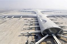 Bao'an International Airport, Shenzhen, China, by Studio Fuksas and Knippers Helbig