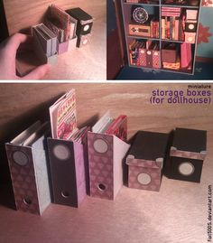 Miniature: Storage boxes (dollhouse) by ~fiat500S on deviantART