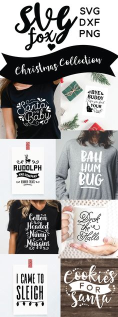 Check out the new Chrstmas colelction at #svgfox! christmas, svg, cut file, dxf, cricut maker, silhouette cameo, silhouette christmas cut files, projects, diy