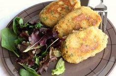 Hamburguesas de salmón con verduras