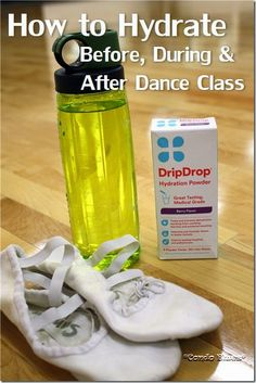 how to stay hydrated before during and after dance class