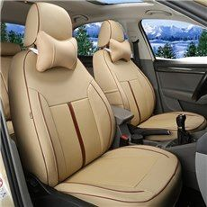 Classic Solid Charming Design And PU Leather Material Universal Car Seat Cover