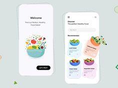 Food Menu Design, Healthy Salad Recipes, Healthy Food, Lentil Salad, Vegetable Salad, Ui Ux Design, Perfect Food, Food Art, Mobile App