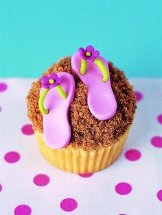 Flip-Flop Cupcakes