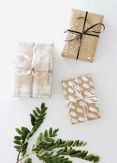 four DIY gift wrap i