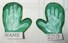 hand print snowflake | Handprint and Footprint Art : Winter Handprint & Footprint Art