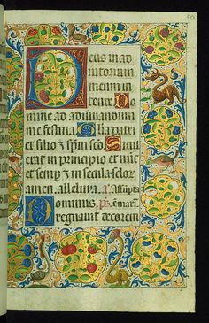 Almugavar Hours, Decorative border and incipit with flower… | Flickr