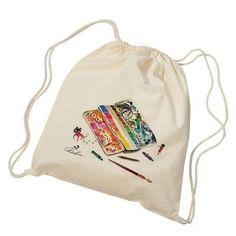 單車行,旅行調色盤,畫畫是我記錄的方式  尺寸:34.5cmX45cm 顏色:素色 淡米白 材質:帆布 款式:後背包 包包形狀:束口 布料硬度:偏軟 圖案:插畫 風格:清爽/文藝