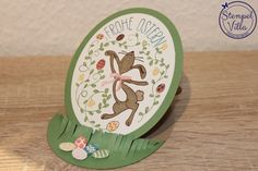 Stampin' Up! Easel-Card, Easter, Ostern, Happy Easter Bunny, Osterhasengruß
