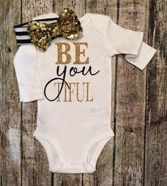 BE YOU TIFUL Beautiful Baby Girl Onesies - BellaPiccoli