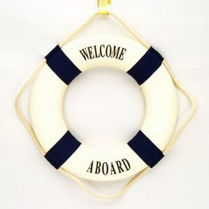 Welcome Aboard Life Ring | Nautical Theme Party Decorations