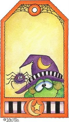 Ilustration by Laurie Furnell Retro Halloween, Halloween Songs, Halloween Painting, Halloween Labels, Halloween Clipart, Halloween Pictures, Halloween Cards, Holidays Halloween, Happy Halloween
