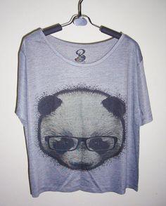 Your place to buy and sell all things handmade - Panda Shirt - Ideas of Panda shirt #PandaShirt -   Hey I found this really awesome Etsy listing at www.etsy.com/ Panda Love, Panda Bear, Panda Outfit, Tumblr T Shirt, Panda Shirt, Crop Shirt, Mode Style, Blouse, Cool Outfits