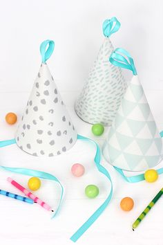 DIY Fabric Party Hat | alice & lois for minted