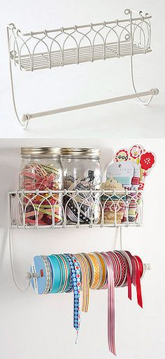 "@Tamara Schweitzer-doesn't WH have something like this?!  Great ""show off"" idea! CRAFT STORAGE: PAPER TOWEL HOLDER"