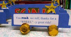 Wheel-y great ride bus Volunteer Appreciation Gifts, Teacher Appreciation Week, Teaching Abcs, Teaching Ideas, Best Teacher, Teacher Gifts, School Counselor, Elementary Schools, Kindergarten