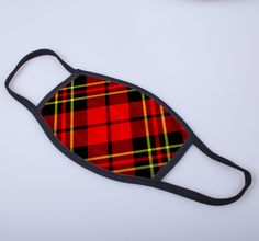 non medical face covering with printed Brodie tartan - exclusively from ScotClans