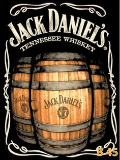 Jack Daniel's is a brand of sour mash Tennessee whiskey that is among the world's best-selling liquors and is known for its square bottles and black label. Vintage Labels, Vintage Signs, Vintage Ads, Vintage Posters, Jack Daniels Wallpaper, Jack Daniels Whiskey, Bourbon Whiskey, Jack Daniels Barrel, Jack Daniels Logo