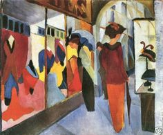 Fashion Store by August Macke Giclee Fine ArtPrint Reproduction on Canvas | eBay