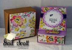 drawer box card with box
