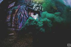 Colored smoke grenades.                  FB: KaleKingPhotos                            IG: K.K.Photos