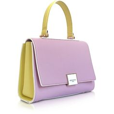Emilio Pucci Handbags Top Handle Leather Satchel Bag ($1,385) ❤ liked on Polyvore featuring bags, handbags, top handle handbags, handbag purse, leather satchel, man bag and leather purses