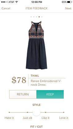 THML Ranee Embroidered V Neck Dress I love Stitch Fix! Personalized styling service and it's amazing!! Fill out a style profile with sizing and preferences. Then your very own stylist selects 5 pieces to send to you to try out at home. Keep what you love and return what you don't. Try it out using the link! #stitchfix https://www.stitchfix.com/referral/5634870