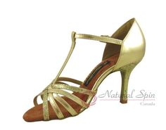 Natural Spin Salsa Salsa Shoes/Tango Shoes/Fashion Shoes(Open Toe):  S1101B_GoPG