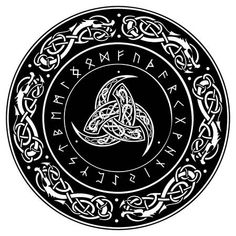 Triple Horn of Odin decorated with Scandinavic ornaments and. - - Vector - Triple Horn of Odin decorated with Scandinavic ornaments and runes, vector illustration. Viking Tattoo Sleeve, Norse Tattoo, Celtic Tattoos, Viking Tattoos, Armor Tattoo, Wiccan Tattoos, Inca Tattoo, Indian Tattoos, 3d Tattoos