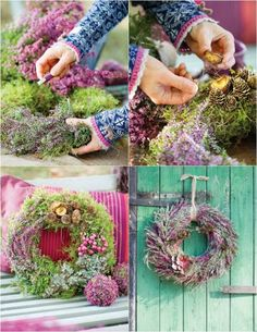 Erika heather-autumn-self-make-door-wreath - Deko