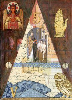 The Hierophant from Goldenmoon Tarot by Elizabeth Aralia