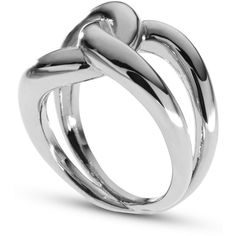 Michael Kors Silver-Tone Twisted Knot Ring ($32) ❤ liked on Polyvore