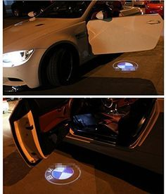 Excellent 4x Wireless Projector Car Logo Shadow Door Welcome Step LED Lights (For BMW)