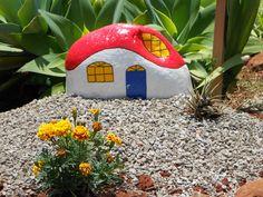 Artes e Desarranjos: Pedras pintadas para o jardim
