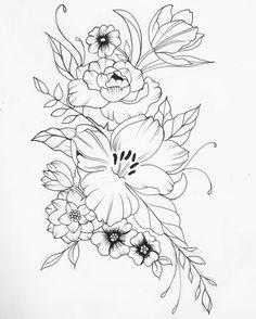56 отметок «Нравится», 4 комментариев — Brittany (@humblebeetattoo) в Instagram: «Floral Bouquet!   #tattoosbybrittany • • • • • • • • #tattoo  #tattoo  #torontotattoos #toronto…»