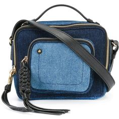 See By Chloé denim crossbody bag (3.972.715 IDR) ❤ liked on Polyvore featuring bags, handbags, shoulder bags, blue, crossbody handbags, see by chloe handbags, blue purse, blue shoulder bag and denim purse