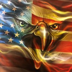 Flag And Eagle Diamond Painting Kit Embroidery Diamond Full Drill Cross Stitch Kit Diamond Mosaic Patriotic Pictures, Eagle Pictures, Pictures Of Doves, American Flag Wallpaper, Eagle Wallpaper, American Flag Eagle, American Freedom, American Indians, Patriotic Tattoos