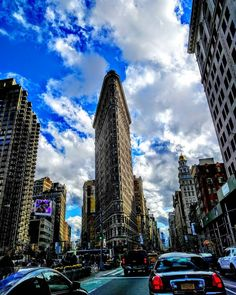 Took this picture of the Flatiron Building in a cab on the way to dinner. The clouds were beautiful and contrasted really well with the building. Follow me on IG: @aarontease