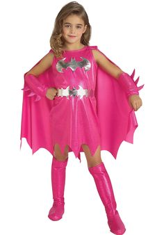 Pink Batgirl Costume For Kids - Superhero at Escapade