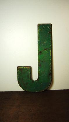 Large Metal Letter J Red Metal Letter  C  Letter C  Pinterest