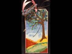 Painting with Embossing Powders - Spring Blossom Altered Tag