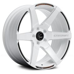 COSMIS RACING® - S1 White with Milled Spokes