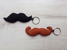 Moustache Keyring Father's Day Gift Gift for him by BellaandRoo